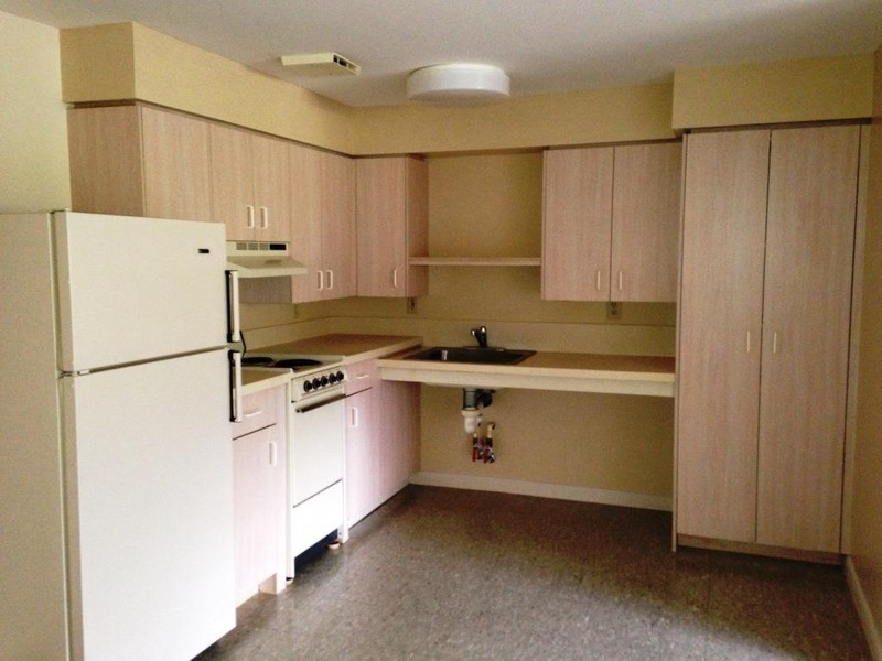 Some apartments feature wheelchair-accessible kitchens and bathrooms