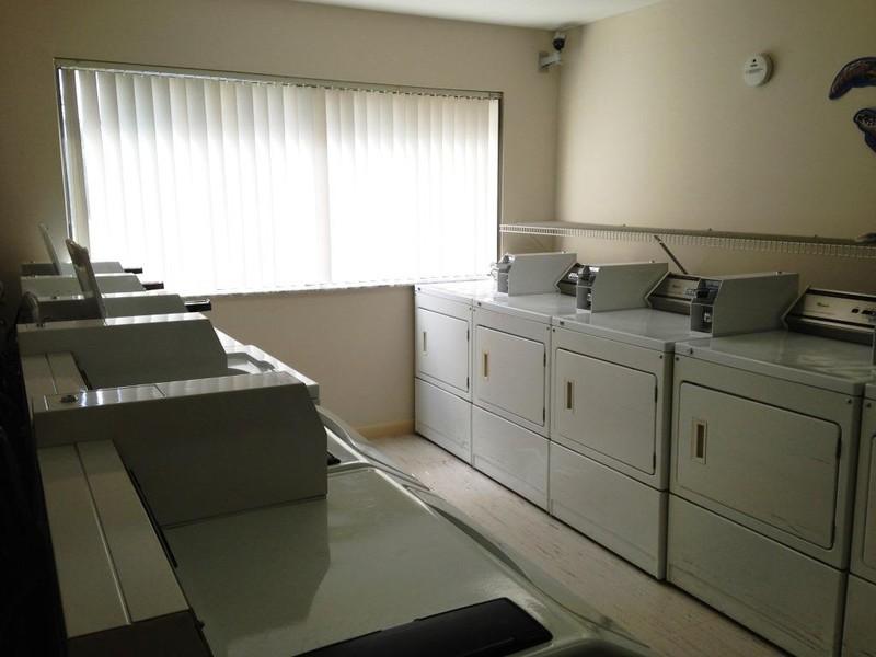 A convenient community laundry room