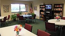 Spacious community room of Heritage Oaks Ocala