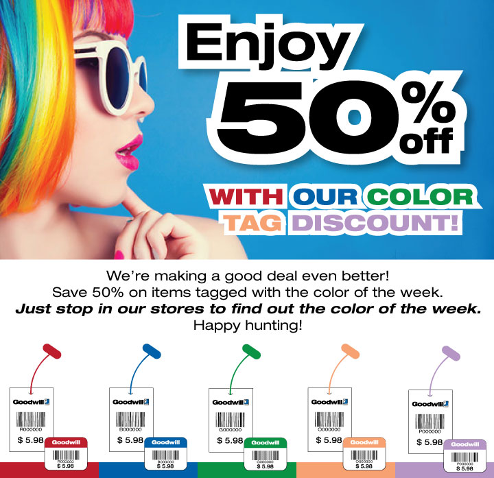 4e593c89c4a Color of The Week Sale 50% Off | Goodwill Industries Suncoast