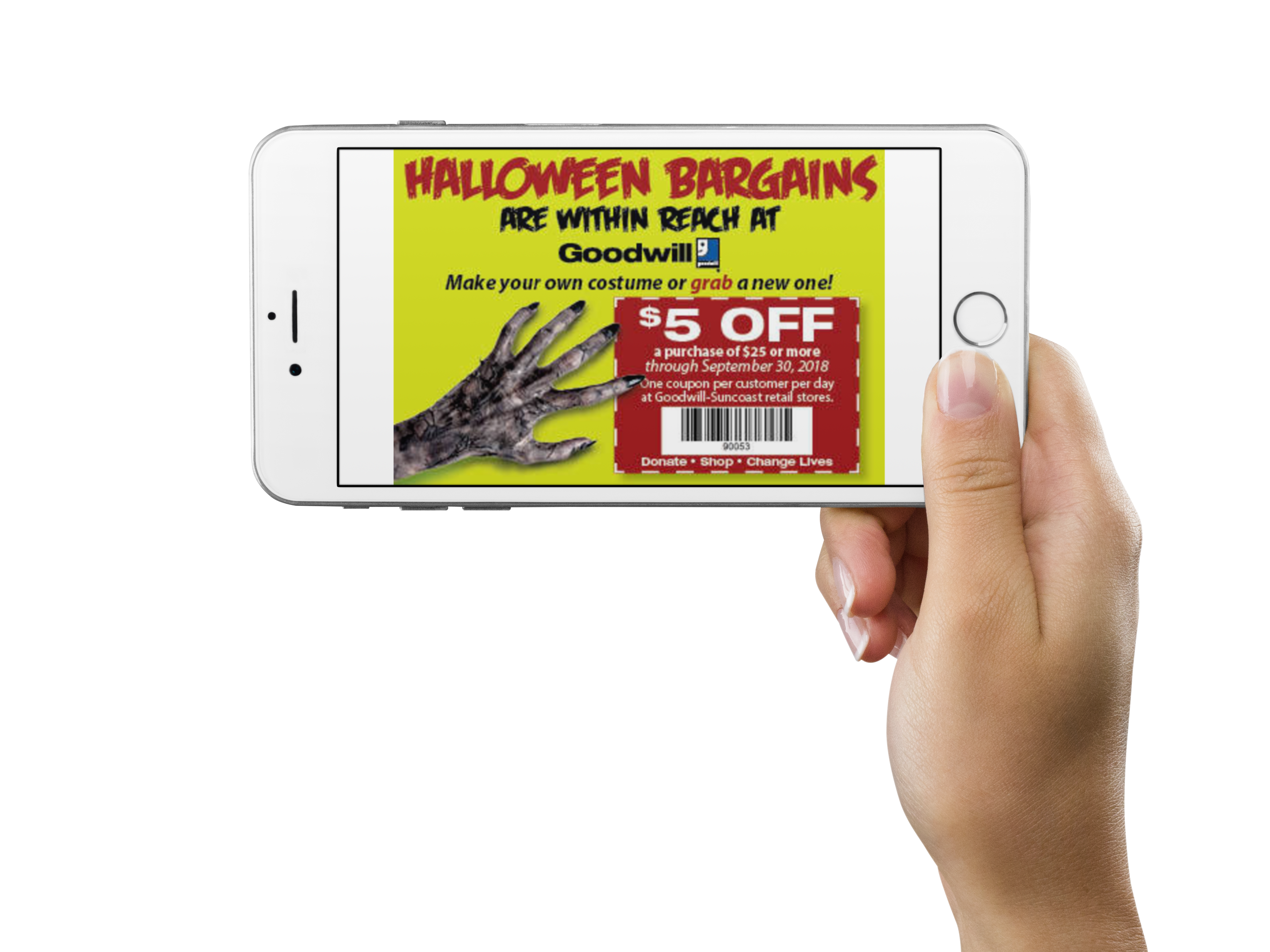 Halloween Coupon Worth $5 off | Goodwill Industries Suncoast