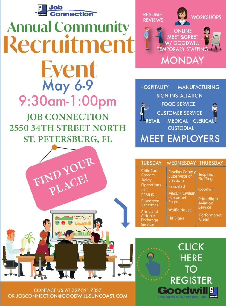 Suncoast Customer Service >> Goodwill S Free Community Job Fair Goodwill Industries Suncoast