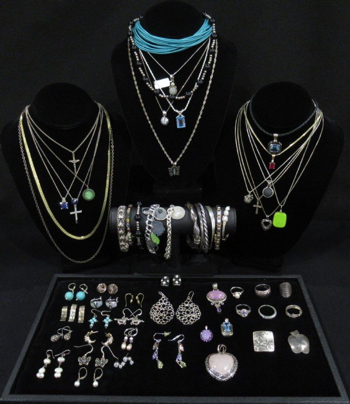 Sterling Silver Fashion Jewelry Lot
